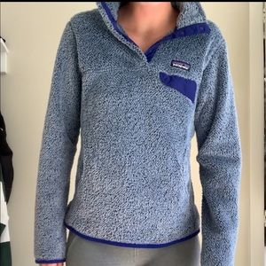 Patagonia fuzzy blue jacket